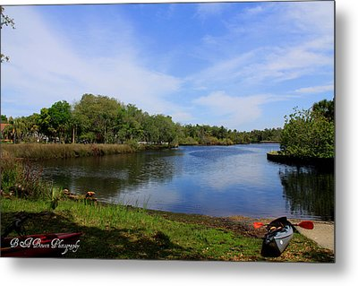 Kayaking The Cotee River Metal Print by Barbara Bowen