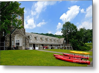 Kayaks At Boat House North Park Pittsburgh Pennsylvania Metal Print by Amy Cicconi