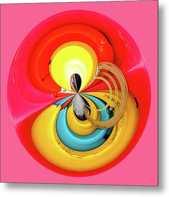 Metal Print featuring the photograph Kayaks Orb by Bill Barber