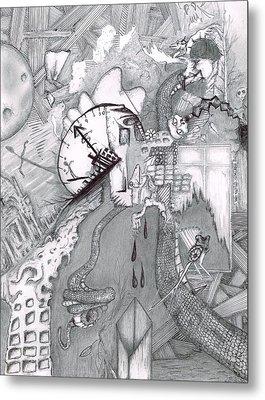 Kayla Dan Collaboration Metal Print