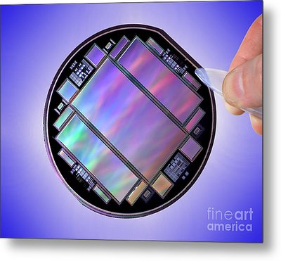 Keck Telescope Ccd Imager Metal Print by Science Source