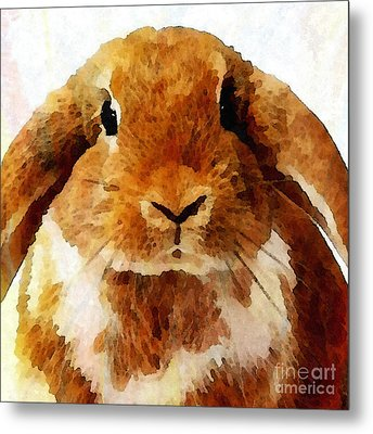 Keep Calm And Love Bunnies Metal Print by Stacey Chiew