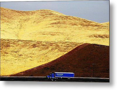 Metal Print featuring the photograph Keep On Western Truckin On Hwy 152 Ca by John King
