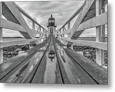Metal Print featuring the photograph Keeper's Walkway At Marshall Point by Rick Berk