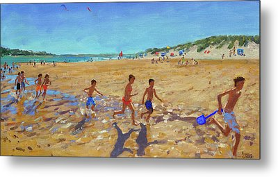 Keeping Fit, Wells Next To The Sea  Metal Print by Andrew Macara
