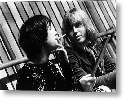 Metal Print featuring the photograph Keith Moon Brian Jones 1968 by Chris Walter