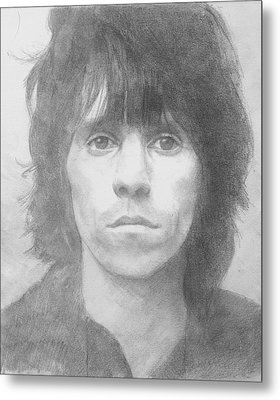 Keith Richards '72 Metal Print by Glenn Daniels