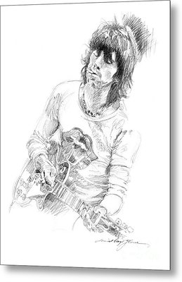 Keith Richards Exile Metal Print by David Lloyd Glover