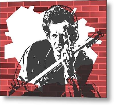 Keith Richards Graffiti Tribute Metal Print by Dan Sproul