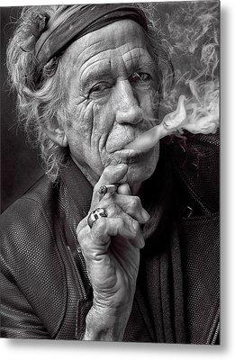 Keith Richards Metal Print by Hans Wolfgang Muller Leg