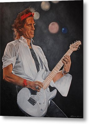 Keith Richards Live Metal Print by David Dunne