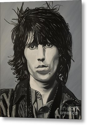 Keith Richards Metal Print by Mary Capriole