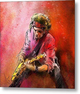 Keith Richards Metal Print by Miki De Goodaboom