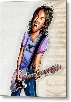 Keith Urban II Metal Print by Gary Bodnar