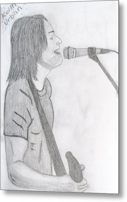 Keith Urban Without Quote Metal Print by Rebecca Wood