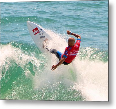 Kelly Slater Us Open Of Surfing 2012     3 Metal Print by Jason Waugh