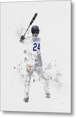 Ken Griffey Jr Metal Print by Rebecca Jenkins