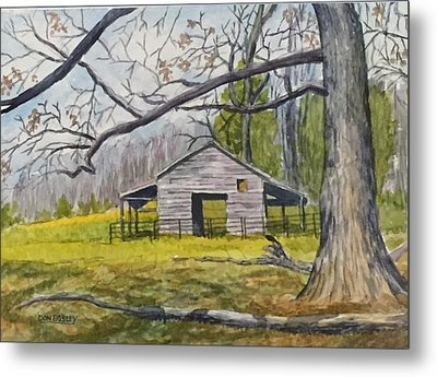 Ken Jenkins Barn Metal Print by Don Bosley
