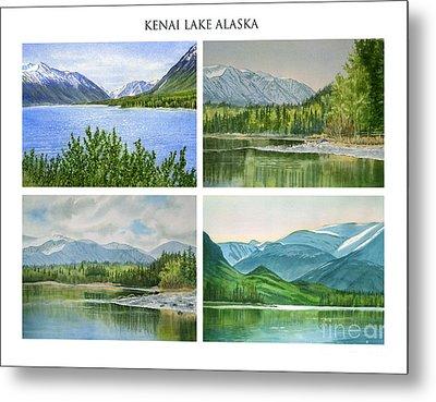 Kenai Lake Alaska Poster With Title Metal Print by Sharon Freeman