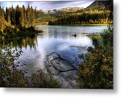 Kenai River In Fall Metal Print