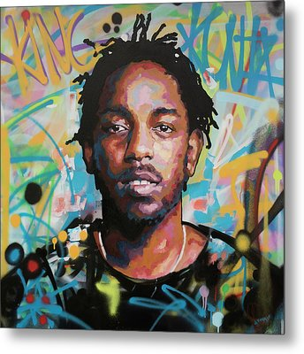 Metal Print featuring the painting Kendrick Lamar by Richard Day