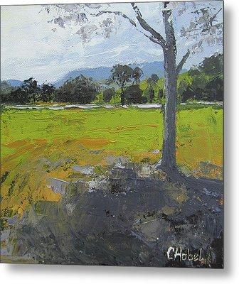 Metal Print featuring the painting Kenilworth Landscape Queensland Australia by Chris Hobel