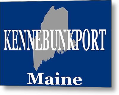 Metal Print featuring the photograph Kennebunk Maine State City And Town Pride  by Keith Webber Jr