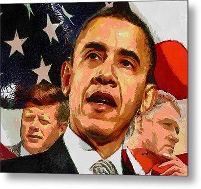 Kennedy-clinton-obama Metal Print