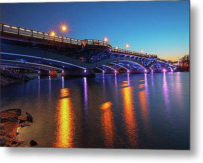 Kenneth F. Burns Memorial Bridge Metal Print