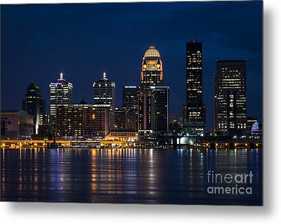 Louisville At Night Metal Print