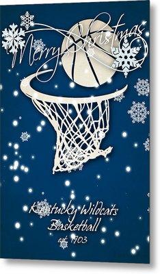 Kentucky Wildcats Christmas Card Metal Print