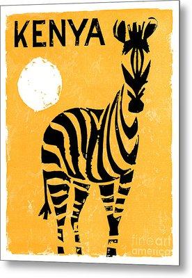 Kenya Africa Vintage Travel Poster Restored Metal Print