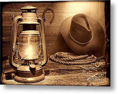 Kerosene Lantern Metal Print