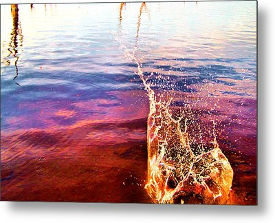 Kerplunk Metal Print by Karen Scovill