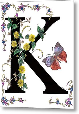 Kerria Japonica And Koh-i-noor Butterfly Metal Print by Stanza Widen