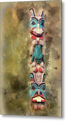 Ketchikan Alaska Totem Pole Metal Print by Bellesouth Studio