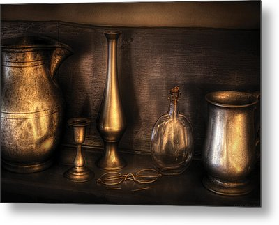Kettle - Ready For A Drink Metal Print by Mike Savad