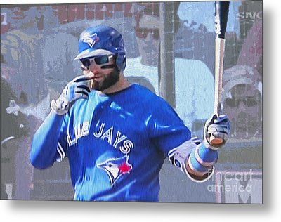 Kevin Pillar At Bat Metal Print