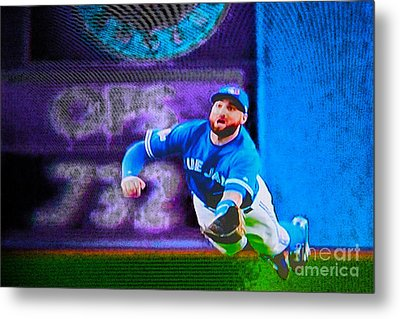 Kevin Pillar In Action II Metal Print