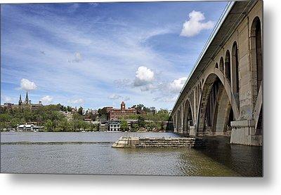 Key Bridge Into Georgetown Metal Print by Brendan Reals