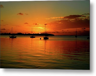 Key Largo Sunset Metal Print