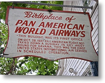 Key West Florida - Pan American Airways Birthplace Metal Print by John Stephens