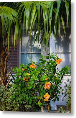 Key West Garden Metal Print