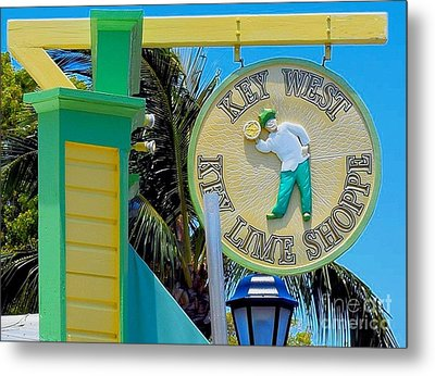 Key West Key Lime Shoppe Metal Print