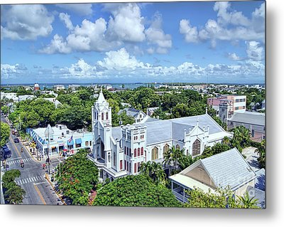Metal Print featuring the photograph Key West by Olga Hamilton