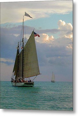 Metal Print featuring the photograph Key West Sail by Gordon Beck