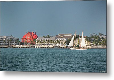 Key West Shoreline Metal Print by Frank Mari