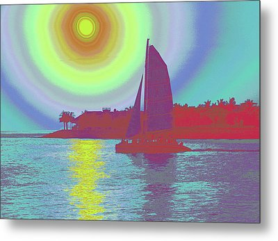Key West Sun Metal Print by Steven Sparks