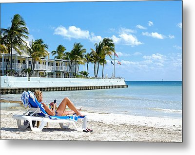 Key West Sunbather Metal Print