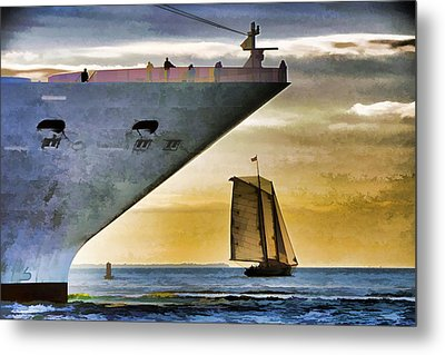 Key West Sunset Sail Metal Print by Dennis Cox WorldViews